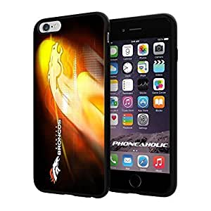 """NFL Denver Broncos , Cool iphone 5c (+ ,"""") Smartphone Case Cover Collector iphone TPU Rubber Case Black"""