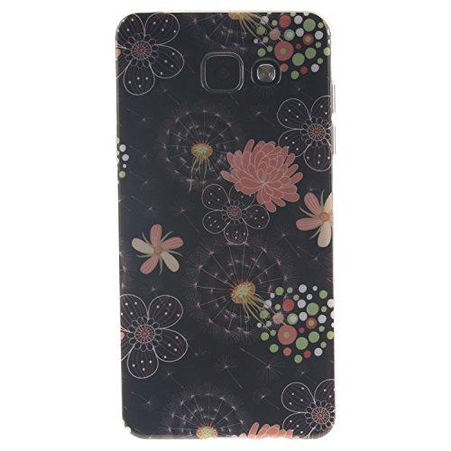 Funda Samsung Galaxy A3 (2015 Version , 4.5 pulgada) , Ycloud TPU Caparazón protector Diseño pequeño Estilo silicona Carcasa Case Cover - Orquídea cu36
