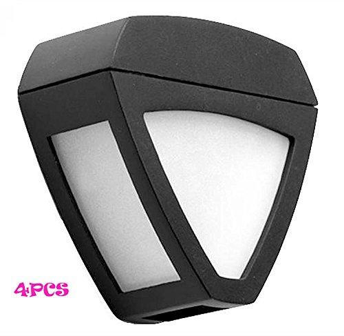 KingYuan Triangle Automatic Solar Light Sensor Garden Yard Wall LED Lamp 2 Colors 4PCS Warm White -