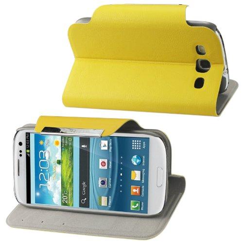 Reiko fc03-sami9300yl aimant à rabat en cuir lisse pour Samsung Galaxy S3i9300