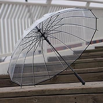 HAN-NMC hembra paraguas automático Paraguas plegable paraguas transparentes para los amantes,B