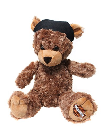 Harley-Davidson Bear with Do Rag Dark Brown Stuffed Animal
