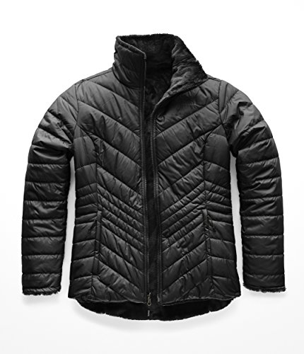 The North Face Women's Mossbud Insulated Reversible Jacket, TNF Black, Small (Womens North Face Fleeces)