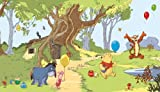 RoomMates JL1220M Pooh and Friends Prepasted Chair Rail Wall Mural