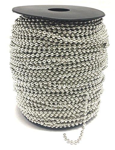 - BRUFER 72423 Ball Chain Spool 330 Feet Bulk Roll Antique Silver (Platinum) 2.4mm Ball (3/32