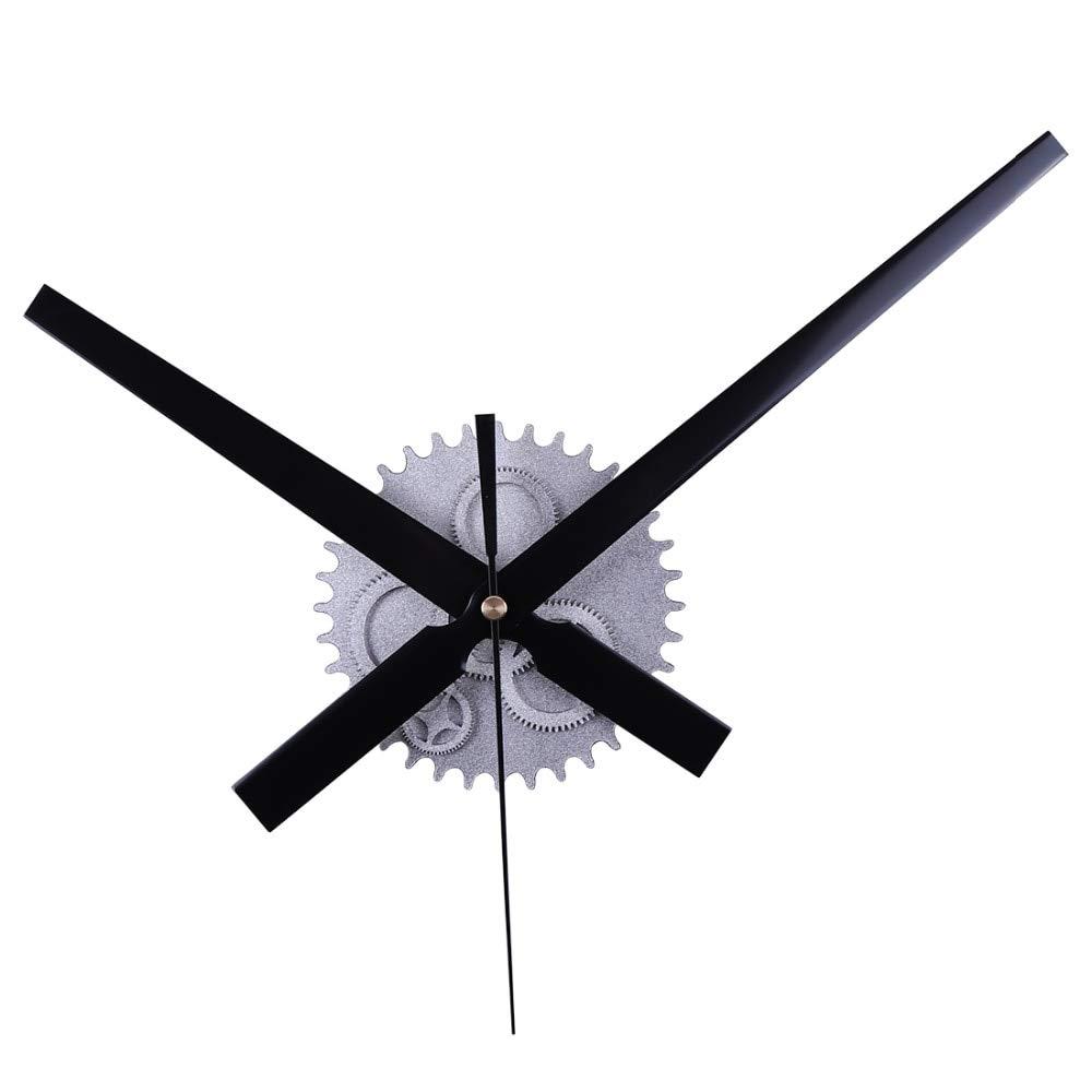 Maslin Retro Noiseless Wall Clock Silent Movement Kit Mechanism Parts with Clock Hands DIY Repair Parts Silver