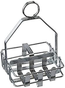 Winco Shaker and Packet Holder, Chrome Plated