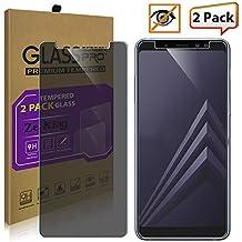 [2-Pack]Samsung Galaxy A7 2018/A8 Plus 2018 Privacy Anti-Spy Glass Screen Protector, ZeKing 0.33mm 2.5D Edge 9H Hardness [Anti Scratch][Anti-Fingerprint] Bubble Free, Lifetime Replacement Warranty