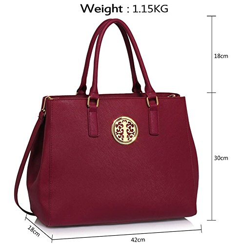 Tote Handbag Nice Handbags Designer Shoulder Tote Burgundy LeahWard Bags Ladies 182 Women's Bag pfw7CqnP