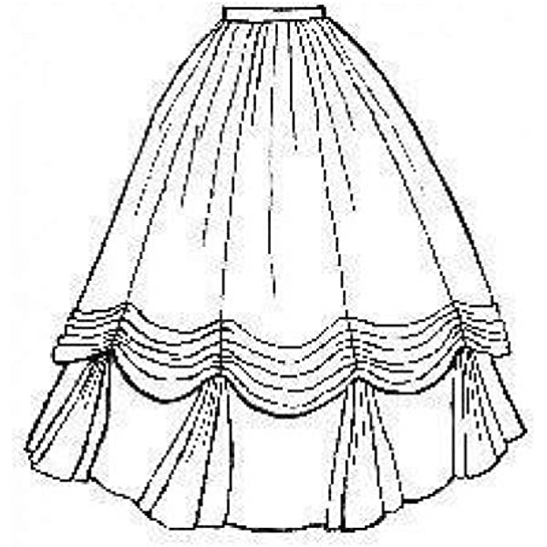 Amazon Com 1860 S Ball Gown Skirt Pattern Arts Crafts Sewing