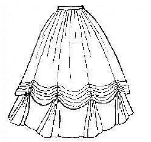 Civil War Ball Gown Pattern - 1860's Ball Gown Skirt Pattern