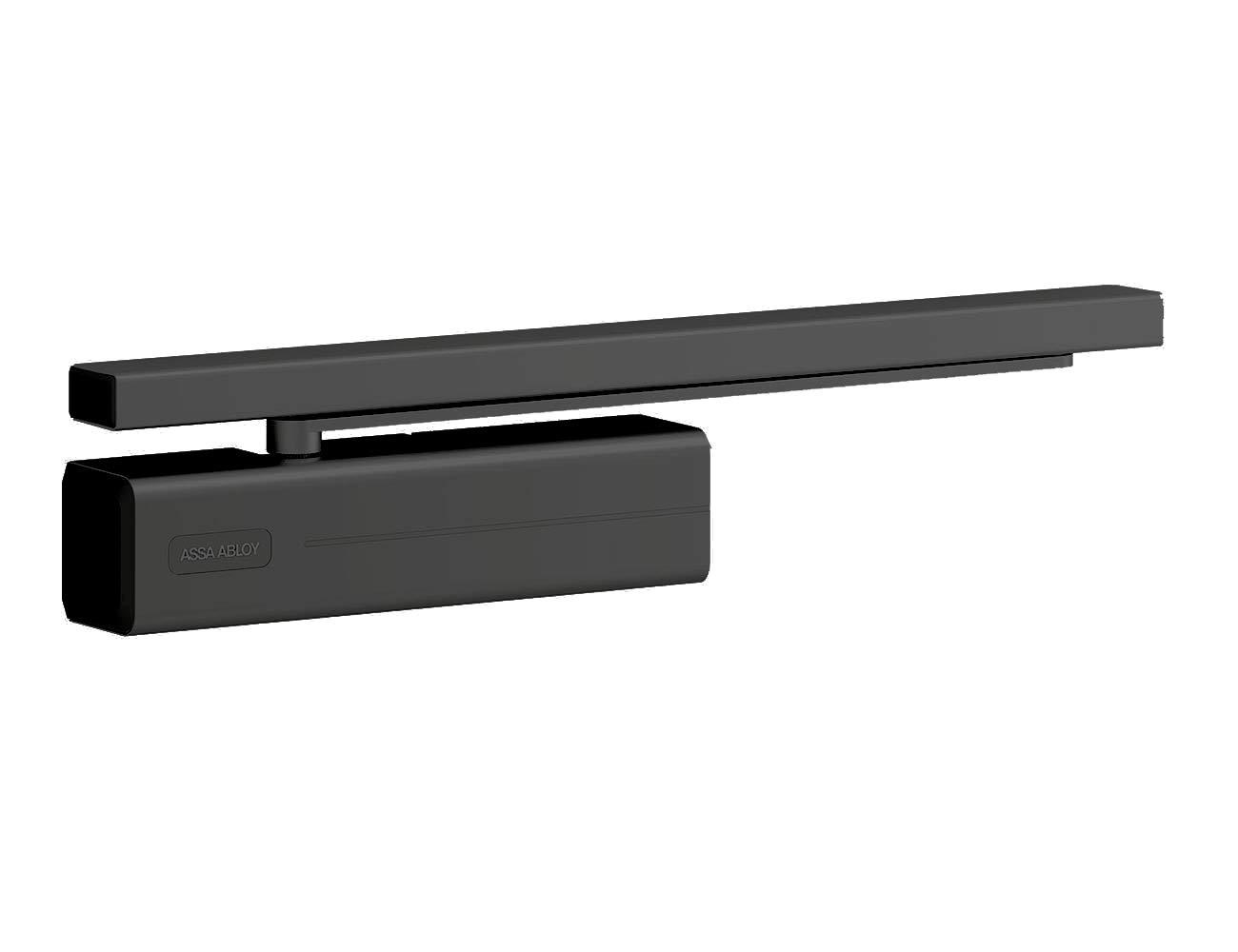Cierrapuertas fuerza EN1//2//3//4 gu/ía deslizante DC500------9005 Tesa Assa Abloy Color Negro