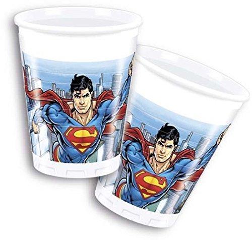 200 mlスーパーマンプラスチックカップby Uniqueパーティー B01MYUZ0PH