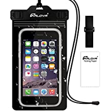 """Waterproof Phone Pouch - IP68 Double Insurance Cell Phone Bag Pouch - Snow Proof - Dustproof - for iPhone 6S 7 7Plus - Any Smartphone up to 6.0"""" - ALOVA(Black)"""