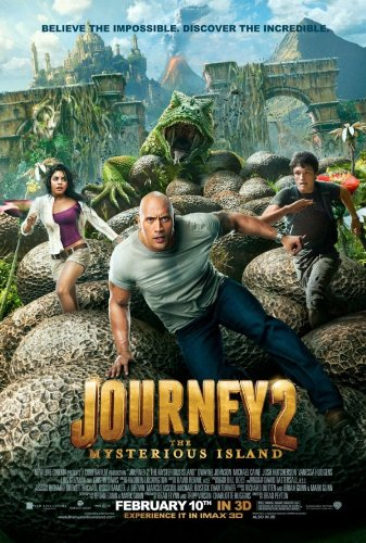 Journey 2 : The Mysterious Island Movie Poster Double Sided
