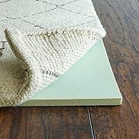 Rug Pad USA, 1/2' Thick, 4'x6', Cloud Comfort Memory Foam Rug Pad, Green