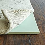 Rug Pad USA, 1/2'' Thick, 6'x9', Cloud Comfort Memory Foam Rug Pad, Green