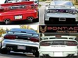 Pontiac Firebird / Trans AM 1993 1994 1995 1996 1997 1998 1999 2000 2001 2002 Rear Tailgate Letter Insert Not Decals - Black