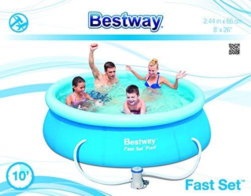 Bestway 8320014 Piscina Fast Set Redonda con Depuradora 244x66 cm ...
