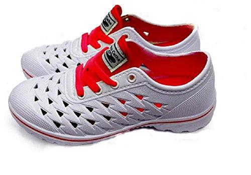 Diny Home & Style Dames Dames Slip-on Sneaker Klompen Sandalen (11, Rood)