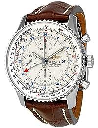 Breitling Men's A2432212/G571BRCD Dial Navitimer World Silver Dial Watch