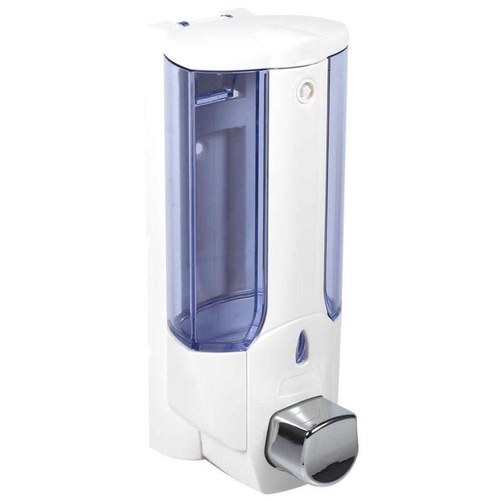 380ml Dosatori per Sapone Liquido Manualmente a Parete, Porta Gel Doccia/shampoo/Mano Sanitizer in Cucina/Bagno/Toilette Yosoo