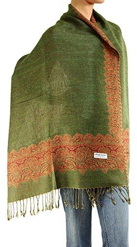 (Women's Woven Double Side Pashmina Shawl Wrap Scarf 80