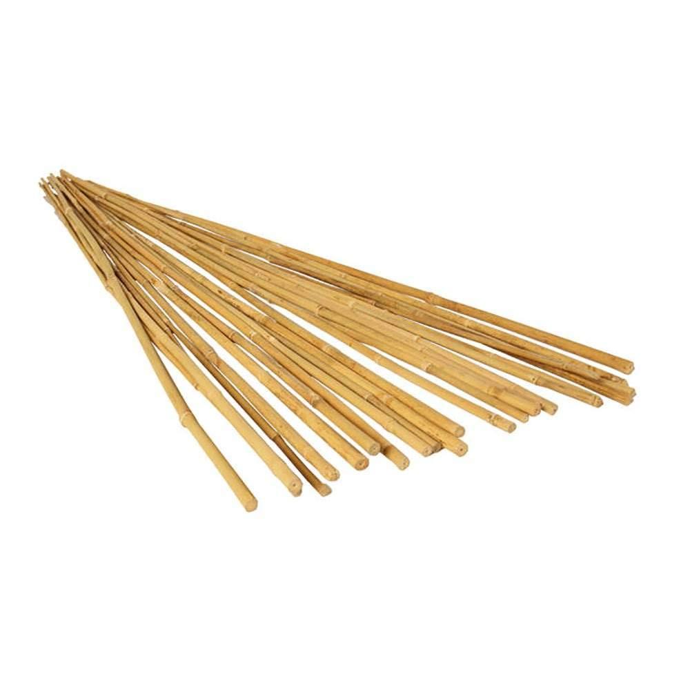 Hydrofarm HGBB4 4' Natural, pack of 25 Bamboo Stake, Tan