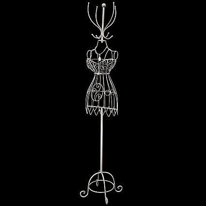 vidaXL Maniqui de alambre con percha, busto señora, estilo vintage