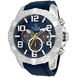 Victory V-Monarch Japanese Quartz Blue Dial Men's Watch