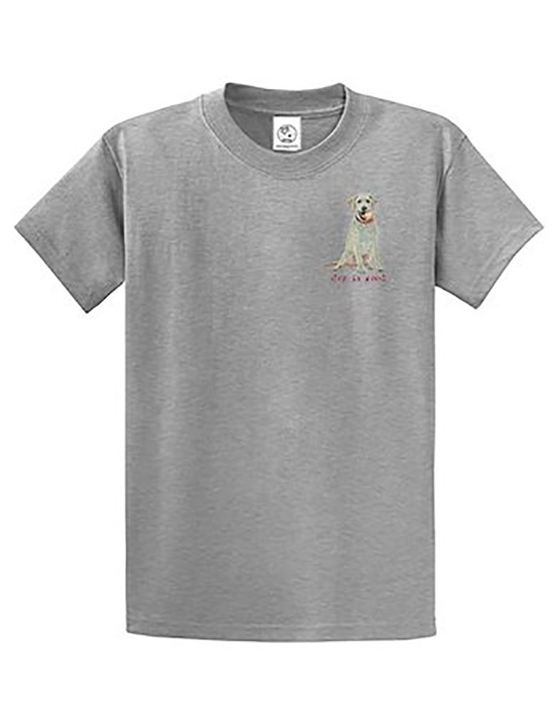 Dog is Good Men's Play Ball T-Shirt (Gray, Large) by Dog is Good (Image #2)