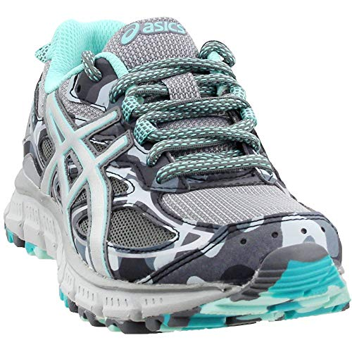 ASICS Women's Gel-Scram 3 Running Shoes Stone Grey/Silver/Aruba Blue 9 B(M) US