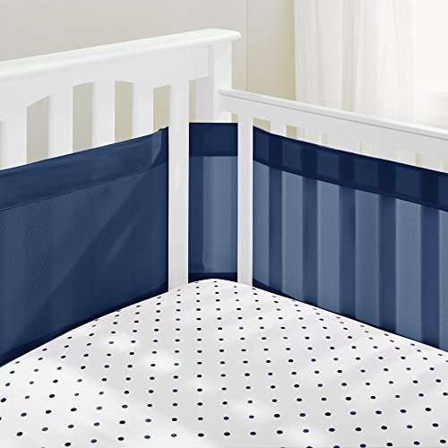 navy blue crib bumper - 8