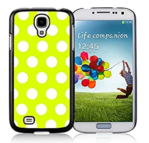 Coolest Samsung Galaxy S4 Case Polka Dot Turquoise and White Soft TPU Black Phone Cover Speck I9500 protector