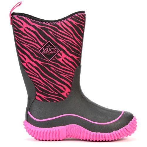 Muck Boots Hale Multi-Season Kids' Rubber Boot,Pink Zebra,4 M US Big Kid