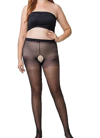 60d25ec35d5 Xiondom Erotic Open Crotch Sheer Stocking Transparent Pantyhose Sexy Silk  Socks (Black)  Amazon.co.uk  Clothing