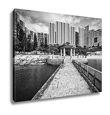 Ashley canvas pier and skyscrapers at repulse bay in hong kong hong kong wall art