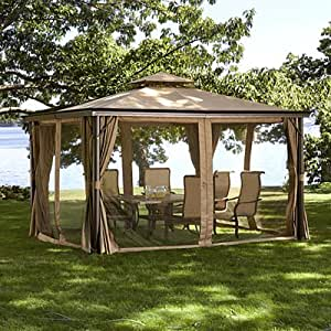 replacement canopy for 10 39 x 12 39 gazebo sold at bj 39 s in 2009 garden outdoor. Black Bedroom Furniture Sets. Home Design Ideas
