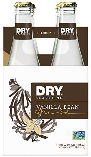 DRY Sparkling Soda, Vanilla Bean, 12 Fl Oz Bottles (Pack of 4)
