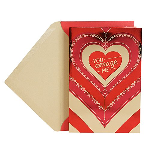 Hallmark Valentine's Day Greeting Card (Radiating Heart)