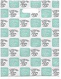 Practicon 1109695 Brushing Teeth Scatter Print Bags, 9'' x 12'' (Pack of 100)