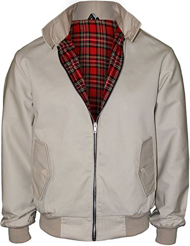 Beige Classic Flap (Kentex Online Men's Harrington Retro Smart Classic Jacket X-Large Beige)