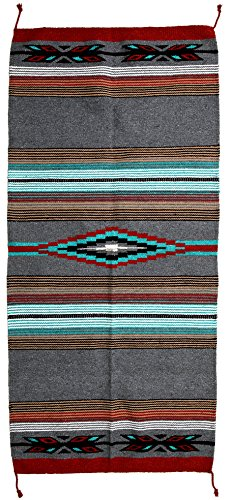 (El Paso Designs Beautiful Hand-Woven Serape Area Rugs Featuring Feather Hawkeye Pattern. Three Sizes to Choose From. (HA64FEATHER3))