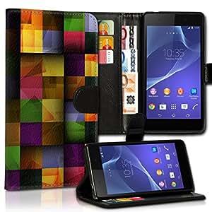 Wallet Wicostar–Funda Case Funda Carcasa diseño Funda para Samsung Galaxy S2Plus I9105–Diseño Flip mvd23