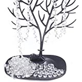 BIHRTC 19.7ft Clear Crystal Glass Octagon Beads Strands Hanging Ornament for Wedding Table Centerpieces Wishing Tree Garland Christmas Decoration Chandelier Candelabra Decor