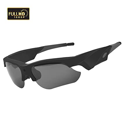 2fcc61c35bd8 Image Unavailable. Image not available for. Color  WBPINE Sunglasses Camera  Full HD 1080P Mini Video Camera with UV Protection Polarized Lens ...