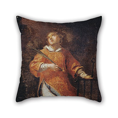 Slimmingpiggy Oil Painting Italian (Roman) - St. Lawrence Cushion Covers ,best For (Reed Roman Tub)