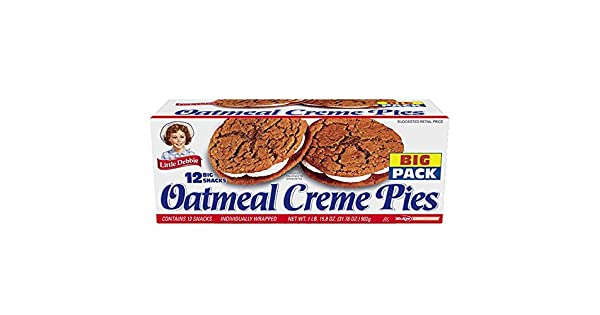 Little Debbie Oatmeal Crème pie Big Pack 31. 78 oz, 12 ct ...