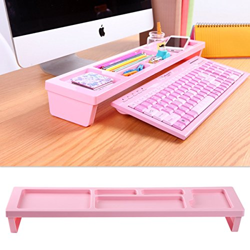 KOSOX® Board Desktop Organizer Rack Office Supply Holder/ Office Computer Desk Supply Caddy Tray/ Anti Dust Shelf Over (Office Supplies)
