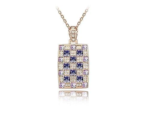 Jing Chow Collar Mujer,Colgante Cristal,Regalos Originales ...